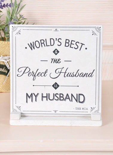 Plaket Mermer - Husband-The Mia
